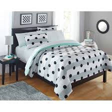 Your Zone Grey Stripe Dot Bed in a Bag Bedding forter Set
