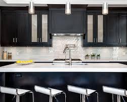 Kitchen Backsplash Ideas For Dark Cabinets by Spectacular Idea Backsplash For Dark Cabinets Incredible