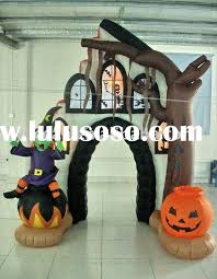 Inflatable Halloween Cat Archway by Inflatable Halloween Haunted House Pumpkin And Witch And Spooky