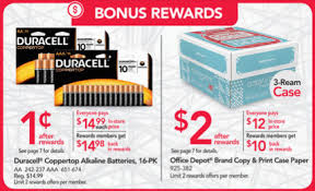 fice Depot Max Rewards fer Get Duracell AA AAA Batteries for 1¢