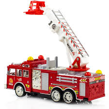 100 Fire Lights For Trucks Engine Toy For Kids Bump And Go Action Rescue Truck