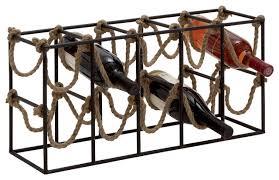 Benzara Metal Rope Wine Rack & Reviews