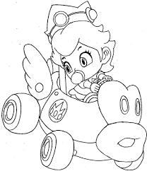 Printable Mario Kart Coloring Pages Me