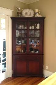 Ashley Furniture Curio Cabinets Awesome Corner China With Cabinet Dining Room