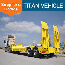 100 Tri Axle Heavy Haul Trucks For Sale Titan Custom Used 50 60tons Lowboy Trailer