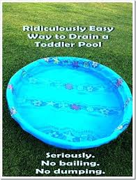 Hard Plastic Kiddie Pool Gross Used Water Into Your Mouth That Been A Deal Breaker For Me All Need Is Toddler And Small Length Of Garden