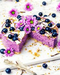 heidelbeer kokos cheesecake mit oatsome kapt n blaubeer