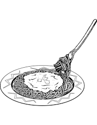 to see printable version of Italian Spaghetti Coloring page