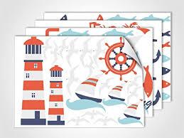 grazdesign fenstersticker maritim feeling fensterfolie bunte aufkleber glasdekor für badezimmer din a4 4stück