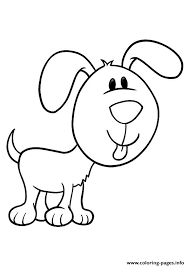 The Pup With A Large Face Puppy Coloring Pages Print Download