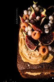 Hazelnut Cake With Caramel Cream And Figs