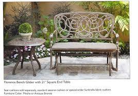 Cast Aluminum Patio Furniture With Sunbrella Cushions by Aluminum Vs Wrought Iron Patio Furniture Real Life Real