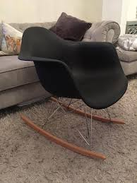 100 Eames Style Rocking Chair Trendy Black