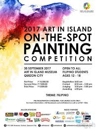 Art In Island On The Spot Painting Competition Event Poster