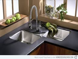 Best Kitchen Sink Material 2015 by 15 Cool Corner Kitchen Sink Designs Corner Sink Sinks And