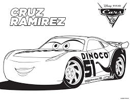 Cars 3 Cruz Coloring Page