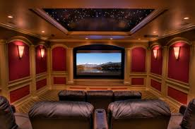 the room and wall sconces home theater contemporary modern