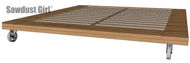 Industrial Platform Bed Woodworking Plans Sawdust Girl