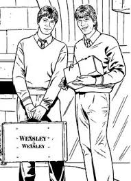 Fred And George Weasley Harry Potter 5 999 Coloring Pages