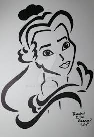 Disney Pumpkin Stencils by Belle Stencil In Black And White By Rg Studios On Deviantart