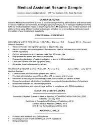 Medical Resume Samples Assistant Sample Companion Examples Externship