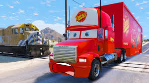 Mack Truck Transportation In Trouble With Train - Disney Cars ... Shop Disney Cars Rc Turbo Mack Truck And Lightning Mcqueen The Tractor Trailer From Disneys Hd Desktop Wallpaper Transporter Playset Story Sets Ebay Cars With In Ellon Aberdeenshire Gumtree 3 Diecast 155 Scale Oversized Deluxe 2018 Lmq Licenses Brands Mack Truck Disney From Movie And Game Friend Of Pixar Shop Movie