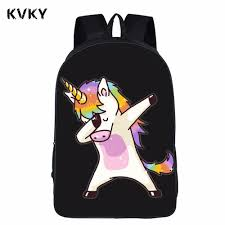 Teens Funny Dabbing Unicorn Backpack For Boys Dab Panda Kids Book Bag Children School Bags Hip Hop Girls Back Pack Mochilas Jansport