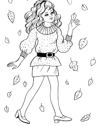 Free Printable Coloring Pages Girls In Dresses Dress Up Home