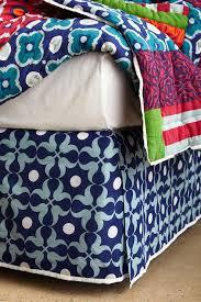 Blue Geometric Bedskirt view full size