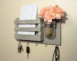 Items Similar To Chalkboard Mail Organizer Large Wall Mounted