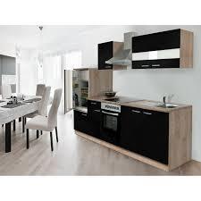 respekta küchenzeile ohne e geräte 270 cm schwarz eiche sägerau