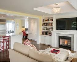 Living Room With Fireplace Design by Tv Over Fireplace Houzz