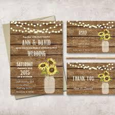 Rustic Wedding Invitation Printable Digital File