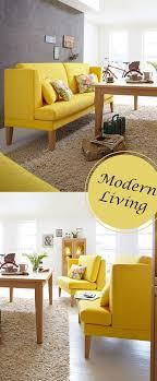 modernes küchensofa blankenese in leuchtendem gelb liegt