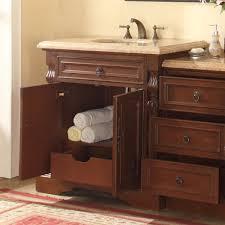 Mesa 48 Inch Double Sink Bathroom Vanity by Accord 55 5 Inch Single Sink Bathroom Vanity Roman Vein Cut