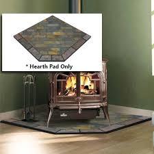 flagstone 40 x 40 single cut corner hearth pad