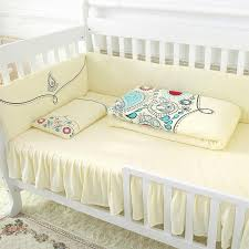 Warm and fortable Super Soft Elegant Yellow Crib Bedding Sets