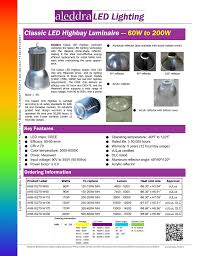 Cut Sheet Aleddra LED Lighting