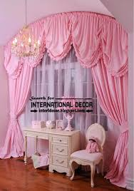 Pink Ruffled Window Curtains by Bedroom Elegant Bay Window Curtains Curtain Ideas For Girls 2013