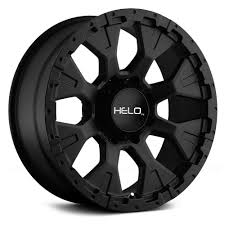 100 Helo Truck Wheels 16 HE878 Satin Black 16x9 Wheel SET RIMS 16INCH S