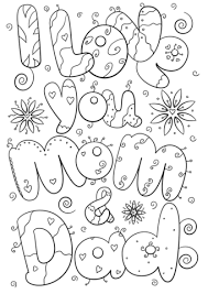 Click To See Printable Version Of I Love You Mom And Dad Coloring Page