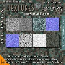 KTMF003 1024px Seamless Shiny Teal And Brown Checkered Floor Tile Material Kit For Mesh Textures By ED ENGINEERING