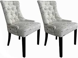 maco import esszimmerstühle wohnzimmerstühle stühle modern altweiß beschriftet 2er set