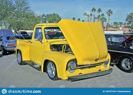 100 Low Rider Truck Yellow Mid1950s Ford Editorial Stock Image