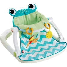 Frog Potty Chair Walmart by Fisher Price Sit Me Up Floor Seat Citrus Frog Walmart Com