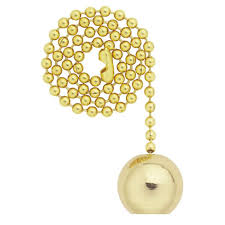 Home Depot Ceiling Lights With Pull Chains by Westinghouse Solid Brass Ball Pull Chain 7700400 The Home Depot
