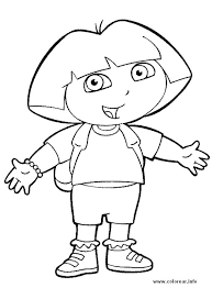 Happy Dora The Explorer Coloring Page If You Are Crazy About Sheets Will Love This