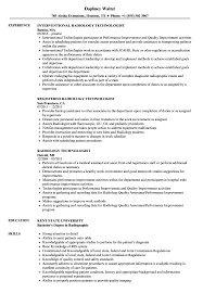 Example Resume X Ray Tech