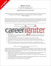 Resume Template Administrative Assistant Sample Cv For Admin Uk