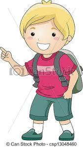 Student boy pointing finger Illustration of a smiling clip art